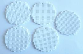 Kerstballen groot 5 stuks (gesneden uit wit flexibele basisplaat) 5 x 5 cm
