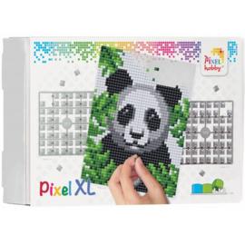 Pixelhobby XL op 4 basisplaten panda 20 x 25 cm
