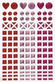 Mosaic (mozaïek) stickervel roze 11 x 16,5 cm