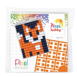 Pixelhobby Pixel mosaic medaillon startset vos sleutelhanger