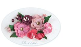 Leane Creatief Flower Foam vel A4 pink (roze) 25.4216 dikte 0,8 mm