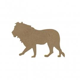 Gomille MDF leeuw 16 x 9,8 cm dikte 5 mm