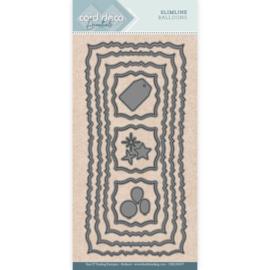 Card Deco Essentials Slimline balloons dies (mallen) CDECD0057