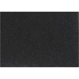 Opstrijkfolie glitter zwart 1 vel A5 14,8 x 21 cm