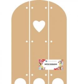 Dutch Doobadoo MDF 3-luik hart 18 x 28,8 cm dikte 3 mm 460.440.110