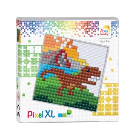 Pixelhobby Pixel XL set Tirex dinosaurus 12 x 12 cm