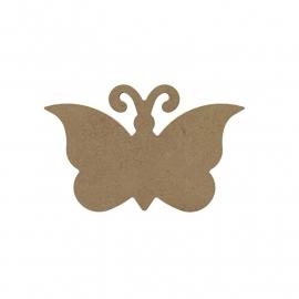 Gomille MDF vlinder  15 x 10 cm dikte 5 mm