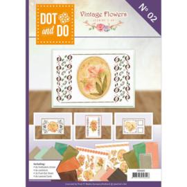 Jeanine's Art Dot & Do vintage flowers boek 2 DODOA6002