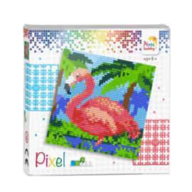 Pixelhobby Pixel set flamingo 12 x 12 cm