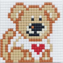 Zelfgemaakte Pixelhobby magneet puppy 6 x 6 cm