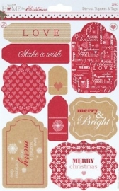Docrafts Home for Christmas Die-cut Toppers & Tags PMA 157916 labels