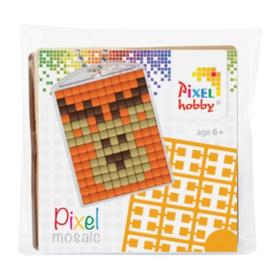 Pixelhobby Pixel mosaic medaillon startset hert sleutelhanger