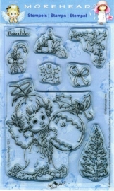 Morehead stempel clear Christmas Angel Bauble 1201