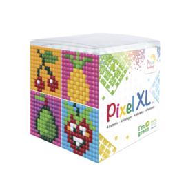 Pixelhobby XL mosaic kubussetje fruit 6,2 x 6,2 cm