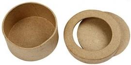 Passepartout papier-mâché doos rond Ø 7,7 cm en hoog 4 cm