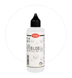 Viva Decor Blob paint (verf) Weiss (wit) flesje 90 ml