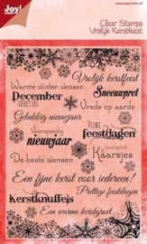 Joy!Crafts Noor Design clear stamps Vrolijk Kerstfeest  6410/0117