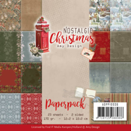 Amy Design Paperpack Nostalgic Christmas 15,2 x 15,2 cm ADPP10036
