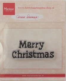"Marianne Design Clear Stempel ""Merry Christmas"" CS0896"