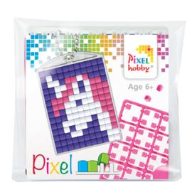 Pixelhobby Pixel mosaic medaillon startset unicorn 1 sleutelhanger