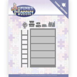 Yvonne Creations Funky Hobbies Bookcase cutting die YCD100228