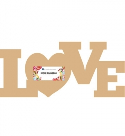 Dutch Doobadoo MDF love 29,5 x 13 cm dikte 3 mm 460.440.120