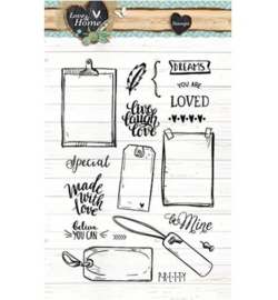 Studio Light Love & Home clear stamps STAMPLH126