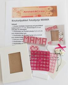 Knutselpakket compleet fotolijstje MAMA