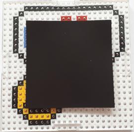 Pixelhobby compleet pakket I love you smiley magneet