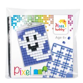 Pixelhobby Pixel mosaic medaillon startset smiling ghost sleutelhanger