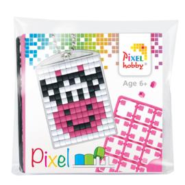 Pixelhobby Pixel mosaic medaillon startset smiling cow sleutelhanger