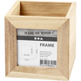 Made of Wood houten pennenbak keizerin boom afm. 10 x 10 cm