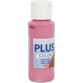 Plus Color acrylverf fuchsia (roze) fles 60 ml