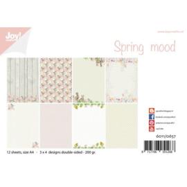 Joy!Crafts Spring mood papierset A4 12 vellen 6011/0657