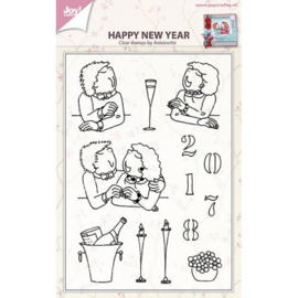 Joy!Crafts Happy New Year clear stempel bij Antoinette 6410/0432
