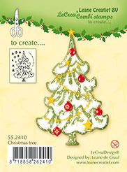 Leane Creatief clear stamp Christmas tree 55.2410