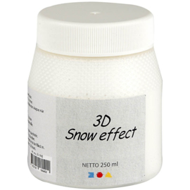 3D Snow (Sneeuw) effect pasta pot 250 ml