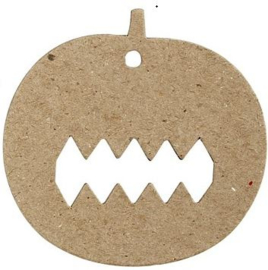 Platte vorm Halloween decoratie pompoen 9 x 8,7 cm dikte 1 mm