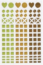 Mosaic (mozaïek) stickervel bruin 11 x 16,5 cm.