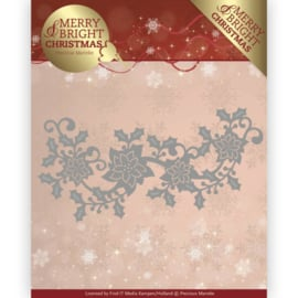 Precious Marieke Merry and Bright Christmas die poinsettia border PM10129