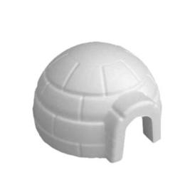 Styropor (piepschuim) iglo klein Ø 12,2 cm hoog 7 cm dikte 1 cm