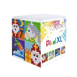 Pixelhobby XL mosaic kubussetje Sinterklaas 6,2 x 6,2 cm