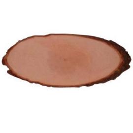 Boomschorsschijf ovaal lengte 14-16 cm breedte 6,4-7,5 cm dikte 1,5 cm
