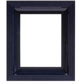 Pixelhobby kunststof lijst frame zwart-blauw 14,6 x 17,2 cm dikte 2,5 cm