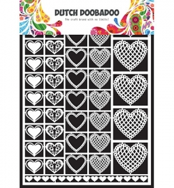 Dutch Doobadoo Paper Art A5 Hearts (harten) 472.948.001