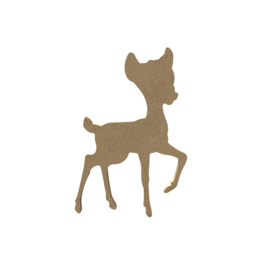 Gomille MDF hertje Bambi 9 x 14,5 cm dikte 5 mm