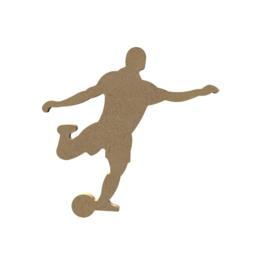 Gomille MDF voetballer 14,8 x 15 cm dikte 5 mm