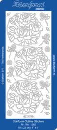 Starform 1282 goud rozen stickervel