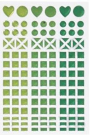 Mosaic (mozaïek) stickervel groen 11 x 16,5 cm