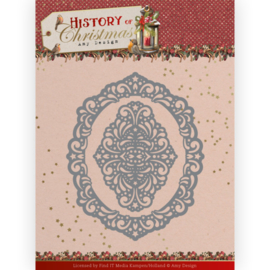 Amy Design History of Christmas Lacy Christmas Oval dies (mallen) ADD10245